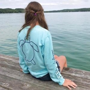 NWT Simply Southern Save the Turtles Logo Tee